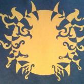 16 let, kompozice - opozit, barevný papír, řez