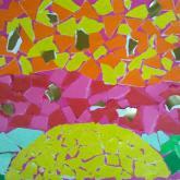 8 let, koláž podle Gaudiho (západ slunce)
