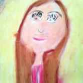 10 let - portrét, pastel