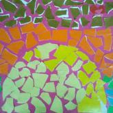 9 let, koláž podle Gaudiho (západ slunce)
